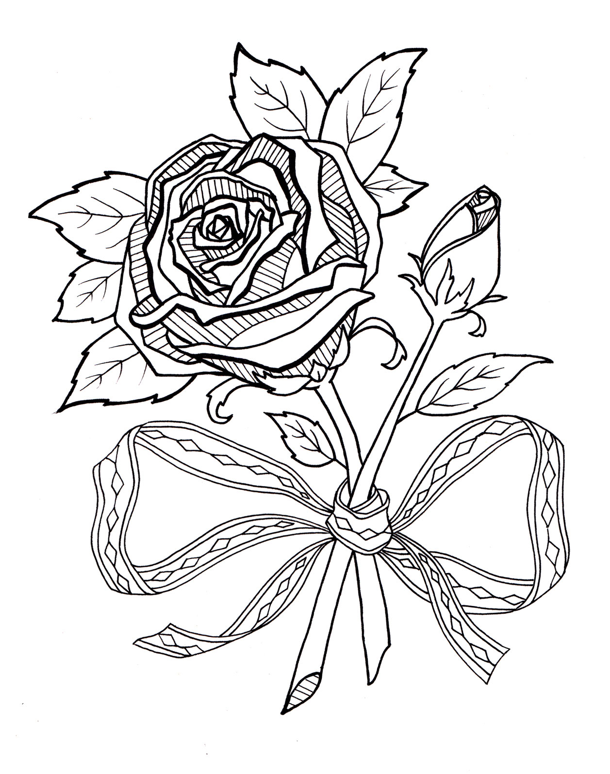Roses Embroidery Pattern