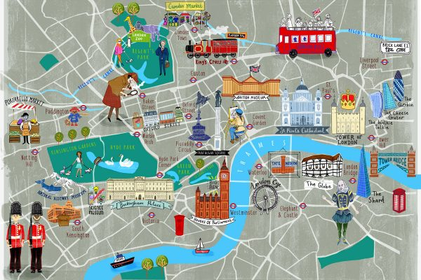 London Tourist Map - Hand Drawn Maps