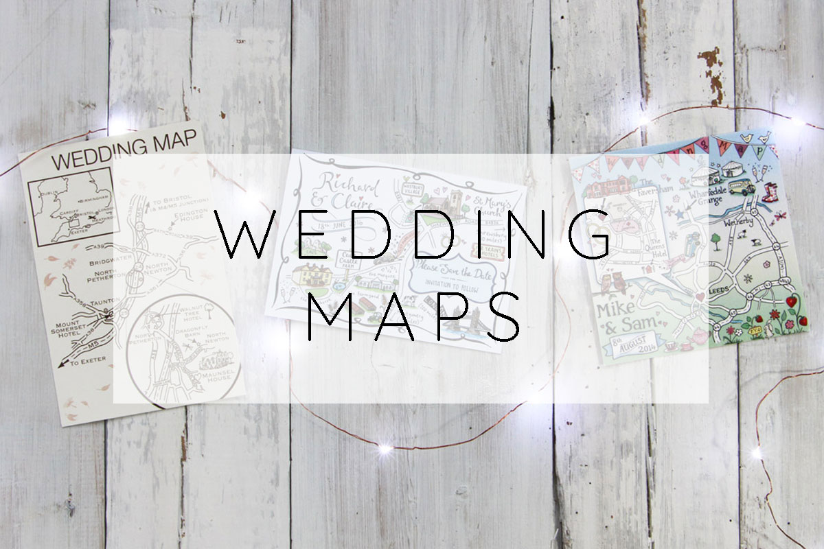 Custom Illustrated Wedding Maps