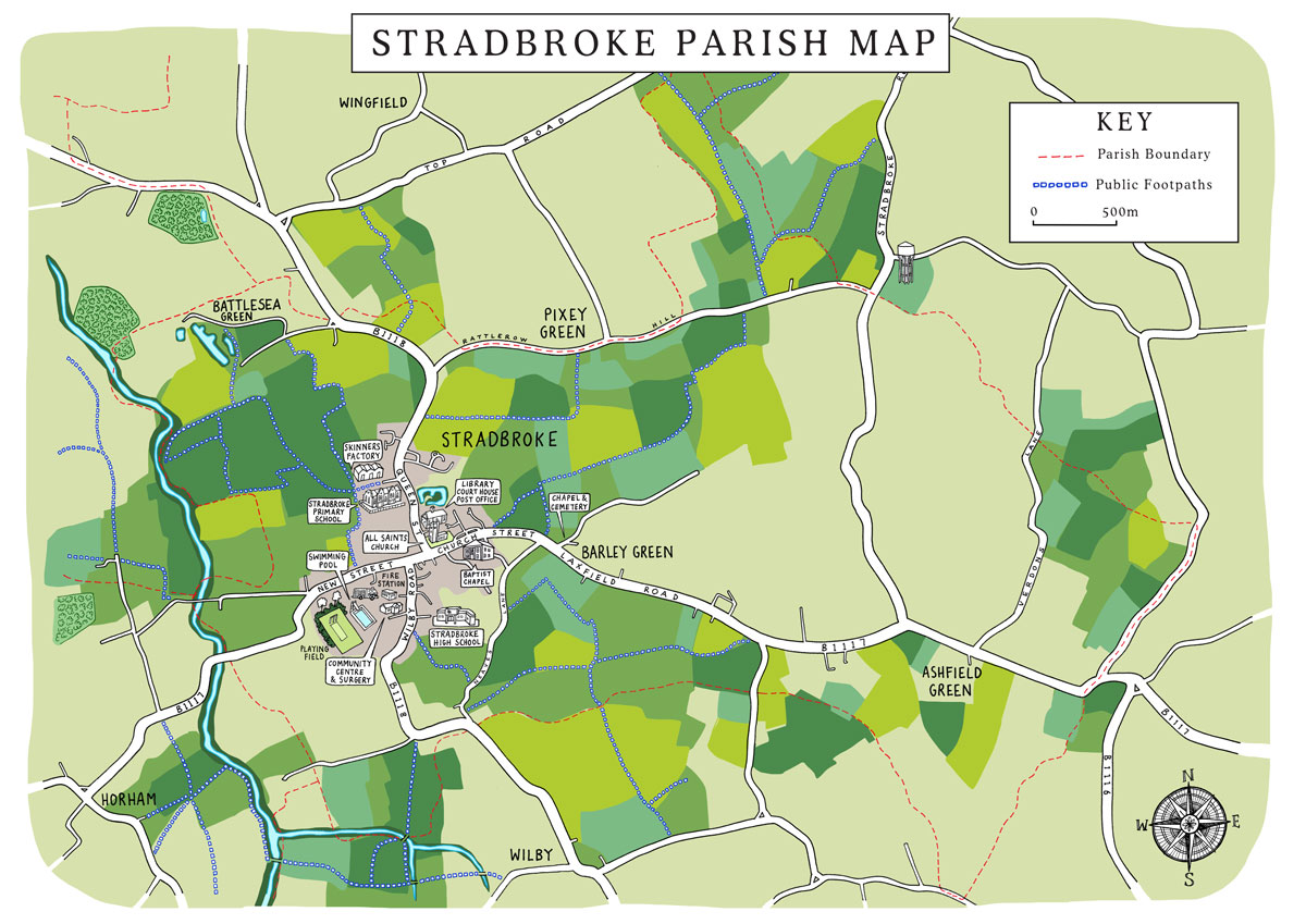 Stradbroke Parish Map